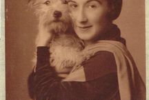 OLD PHOTOS OF OWNERS AND DOGS