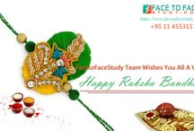 Happy Raksha bandhan / Celebrate Raksha Bandhan with Face To Face Study Team