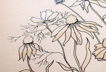 kwiaty i wzory na meble