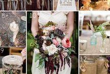 Woodland wedding styling