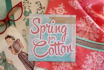 Spring For Cotton / inspiration and resources for the 2015 Spring For Cotton sewing challenge - http://luckylucille.com/2015/03/spring-for-cotton/ / by Rochelle New // Lucky Lucille
