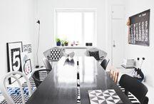 black/white interiors
