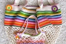 hačkované tašky -  crochet bags