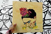 Arte sobre madera. sharo Garcia