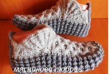 Bačkůrky pletené a háčkované
