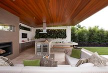 Outdoor entertainment covered areas