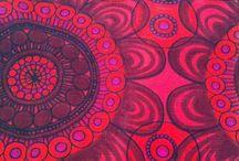 Fabrics, patterns and shapes.