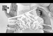 tricô com o braço