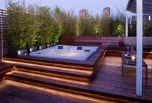 piscina deck madeira