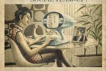 Retrô Social Media / Vintage, Pin-up, Retrô, Pop Art Classic Concepts...