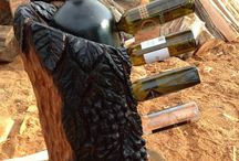 We'll Drink To That / Take a closer look at the decorative wine rack Little Man carved for his great aunt.
