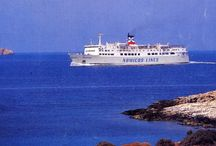 Ferry Boats serving Paros over the years