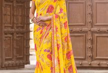 JAMUNIA / Buy the latest  chiffon, georgette designer printed saree  from Laxmipati Sarees.