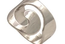 Spiral silver rings handmade in Greece
