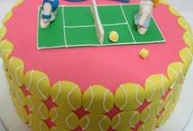 tennis racket cake fondant