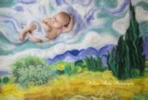 Baby As Art - Masters of art mixed in with precious newborn