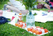 Vöslauer Picknick / So erfrischend schmeckt der Sommer – Picknickkörbe mit kulinarischen Leckereien, jede Menge Sonnenschein, Blumenkränze und natürlich ganz viel Vöslauer Mineralwasser und Vöslauer Balance gibt es bei unseren Picknicks.
