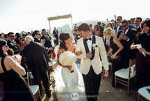 Noura & Matthew Dream Malibu Wedding / A beautiful Wedding located in Malibu Rocky Oaks Vineyard.  Flowers: Tustin Florist Caterer: Jasons Catered Events Photo: Dmitry Shumanev Production