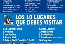 Infografias de viaje / Guías de viaje en infografias por ciudad. Gastos por día y lugares a visitar!!