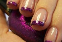 ongles gel violet