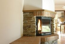 Fireplaces in the corner / beautiful corner fireplaces