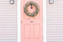 pink front doors