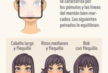 formas de rostros y estilos de los peinados que quedarían bien