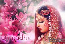 Art Work - Radharani / Amazing wallpapers of Radharani maid by ISKCON Desire Tree