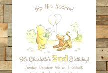 BIRTHDAY / Winnie the Pooh invites