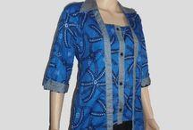Blus Batik Murah Model Kutubaru Lengan 3/4