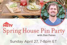 HGTV's Spring House / Bring home fresh ideas for spring.  Join HGTV and designer Dan Faires, Sunday April 27 from 7-8pmET, as we share the season's hottest trends for your home, garden, and entertaining space.  Sponsored by Target.   / by HGTV