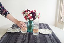 Tabletop decor / Inspiring ideas to set your table throughout the year. Dinner parties, picnics, and everyday beauty.