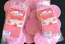 Celozrnné ochutené výrobky - jahodová poleva / Nájdete tu veľmi chutné a zdravé celozrnné chlebíky.