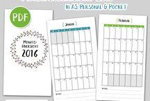 Kalender drucksachen