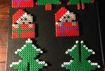 juletræer hama perler