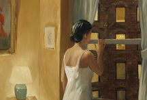Sally Storch  / American artist, born in 1952. His painting is influenced by Edward Hopper and also from the works of American regionalist