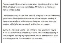 Resignation Mail Sample