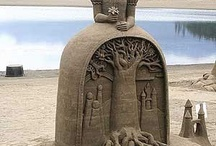 Sand sculpture/ice sculpture