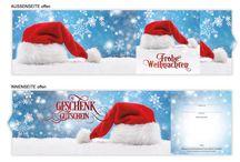 Weihnachts-Geschenkgutscheine / Geschenkgutscheine mit Motiven für XMas bzw. Weihnachten