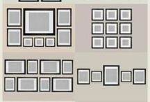 Picture frame wall hanging layout