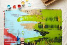 Med pensler og farver