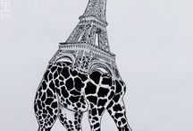 Rare Unique Animals / Hybrides ilustrations based on architecture around the world & animals.
