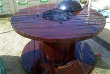 DIY and crafts fire pit table