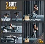 In-Shape Inspiration / Step-by-step infographic on exercises, stretches and more.