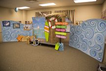 Ocean Commotion Bible Lesson Area / Decorating ideas for the Bible Lesson area at Ocean Commotion VBS for 2016