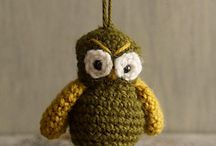 amigurumi birds owls