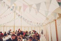 Rob and Amelia at Jollydays, Aug 2014 / Rob and Amelia's glamping weekend wedding at Jollydays, York  with Will's Marquees