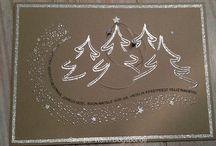 Schwungvolle Weihnachten / Ein #Weihnachtsstempel-Set mit dem ganz wunderschöne #Weihnachtskarten gestaltet werden können. Schaut doch mal, was unser Designteam schon tolles gezaubert hat