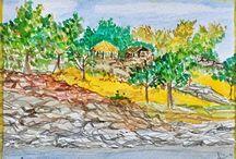 POSTCARDS / postcards 11x15 cm watercolor