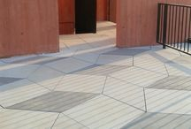 Large concrete slabs and pavements / We are the specialist of large casted concrete slabs production. We have a huge offer of finishes and colours.